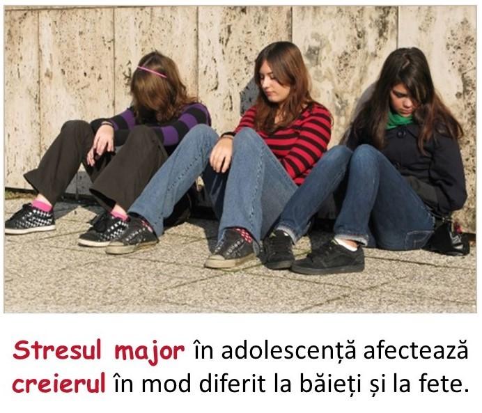 Stresul afectează baietii si fetele diferit